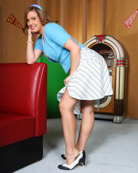 Brooke Lee Adams a cute yet slutty 50's cutie in this photo set