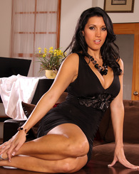 Sexy date Dylan Ryder strips out of her slinky black dress to fuck