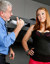 Questions on Sierra's homework lead to riding her teachers cock.