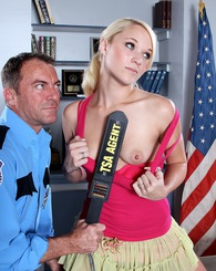 Petite blond Tegan Summers gives blowjob and get fucked.